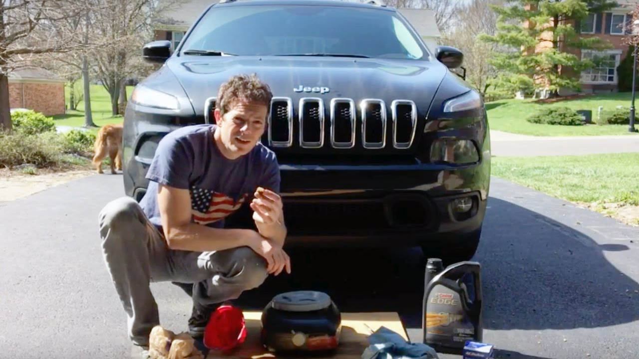 small resolution of jeep cherokee 2015 oil change diy