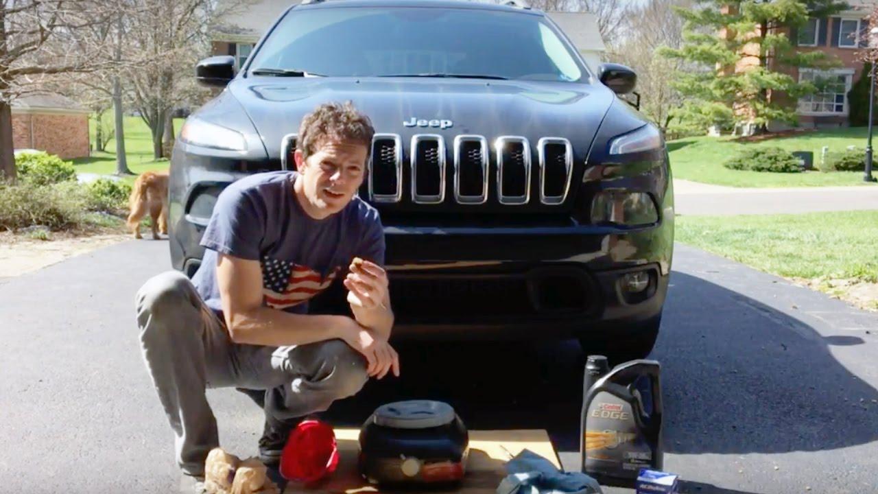 medium resolution of jeep cherokee 2015 oil change diy
