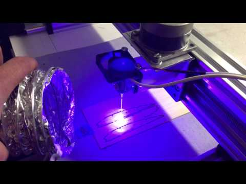 DIY CNC Laser Cutter Test Cuts with 2 8W JTech Photonics