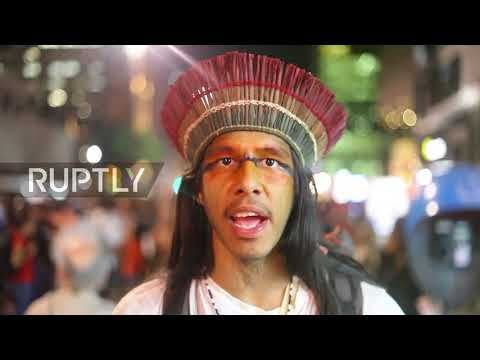 Brazil: Hundreds rally against 'colonisation' of indigenous land in Sao Paulo