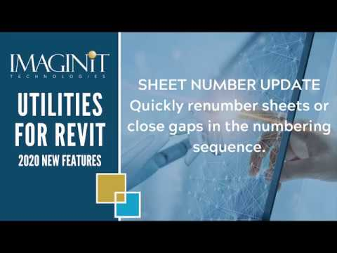 Utilities for Revit: Sheet Number Update