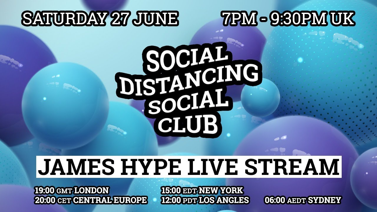 James Hype - Live Stream #stayhome #withme 27/06/20