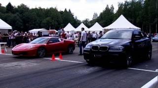 Ferrari F430 vs BMW X6M