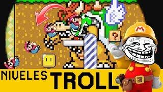 DE LA NADA APARECE EL TROLLEO SALVAJE - NIVELES TROLL #14 | Super Mario Maker - ZetaSSJ