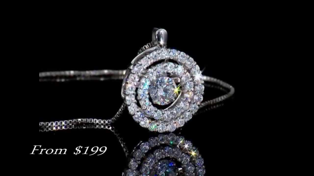 Dancing Diamonds Pendants & Earrings At William's Jewelers