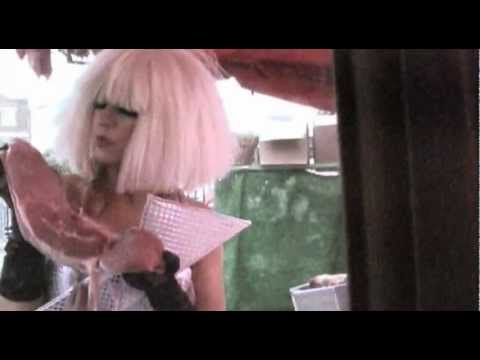 Lady Gaga flashes some flesh