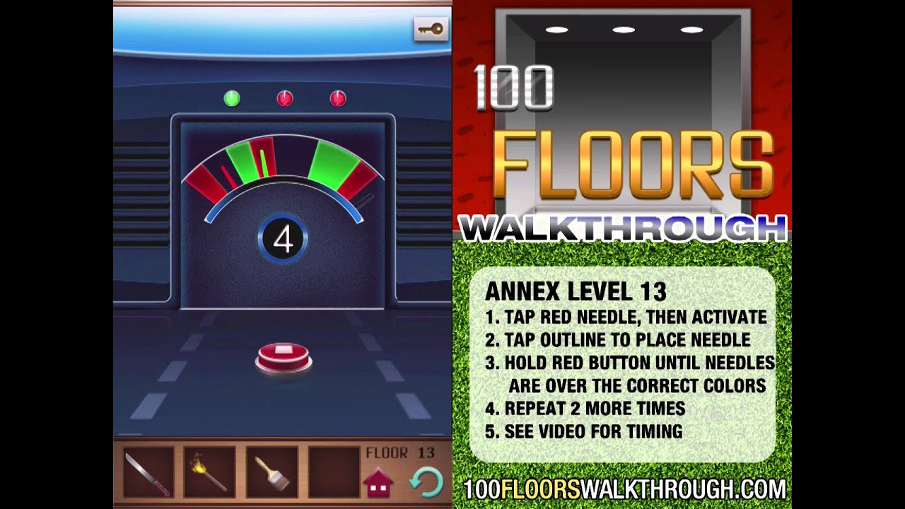 100 Floors Walkthrough Annex Floor 13 Walkthrough 100