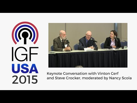 IGF-USA 2015 - Keynote Conversation with Vint Cerf and Steve