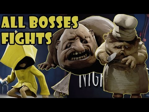 Little Nightmares - All Boss Fights (HD) [1080p60FPS]