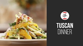 Traditional Tuscan Salad With Oranges, Walnuts And Fennel || Around The World: Tuscan Dinner