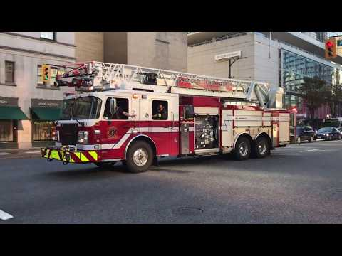 *Air Horn* Vancouver Fire & Rescue Services - Rescue Engine 7 & Ladder 7 (Spare) Responding
