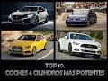TOP 10 AUTOS 4 CILINDROS MAS POTENTES.