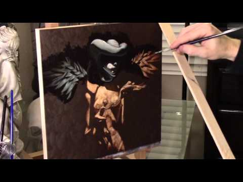 Split no. 11 - Oil Painting - Dead Layer/Grisaille - Time Lapse - Steve Anthony