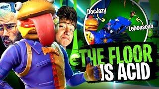 Team Croûton VS The Floor is ACID sur Fortnite Créatif !