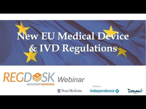 RegDesk Webinar: EU New Medical Device and IVD regulations