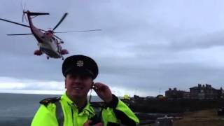 Irish Coast Guard helicopter.