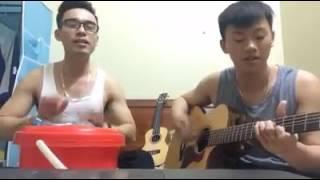 Tình yêu màu nắng -guitar + cajon thùng gạo =))))