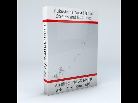Fukushima Area Coast Architectural 3D Model