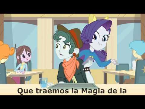 My little pony Equestria Girls Karaoke español latino canción de la cafetería