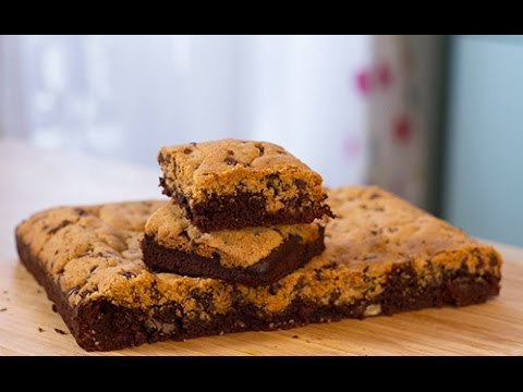 le g teau brookies cookies brownies pour le gouter youtube. Black Bedroom Furniture Sets. Home Design Ideas