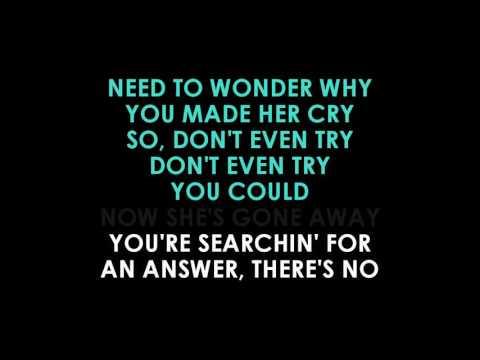 Bryan Adams  Don't Even Try karaoke