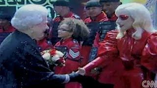 Lady GaGa Meets Queen Of England
