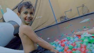 لعبنا على بالونات الملونه  -Color balloons