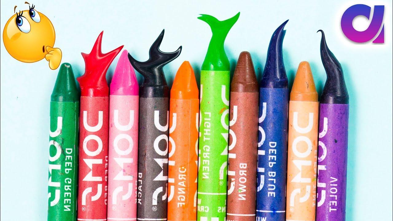Best DIY Craft Idea Out Of Crayon | Home Decor Idea | Artkala 513