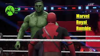 Marvel Studios' Avengers: Infinity War Movie theme Royal Rumble WWE RAW Fulll Match 2k18 PS4 PC