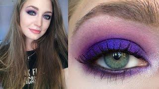 Яркие фиолетовые смоки айс: пошаговый видео-урок