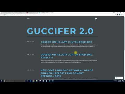 MUST WATCH: Guccifer 2.0 Ties up Everything