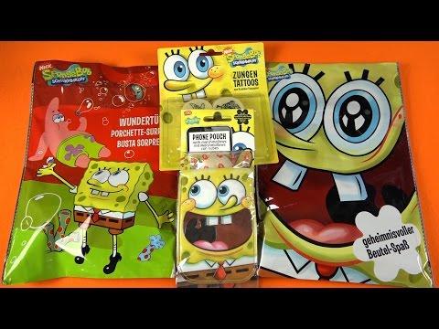 SPONGEBOB SURPRISE Party BAG | Tongue Tattoo Phone Case Coloring Set