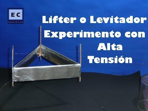 Lifter o levitador, propulsión iónica | Ionocraft