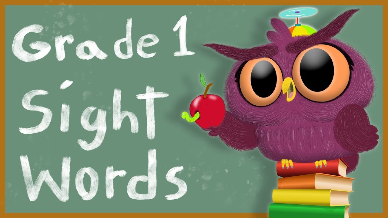 hight resolution of Sight Words - Grade 1 - How to Read - Dolch sightwords - 1st Grade - YouTube