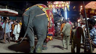 Cart Parade - Elephant Walking Backwards Temple In Udupi Karnataka South India