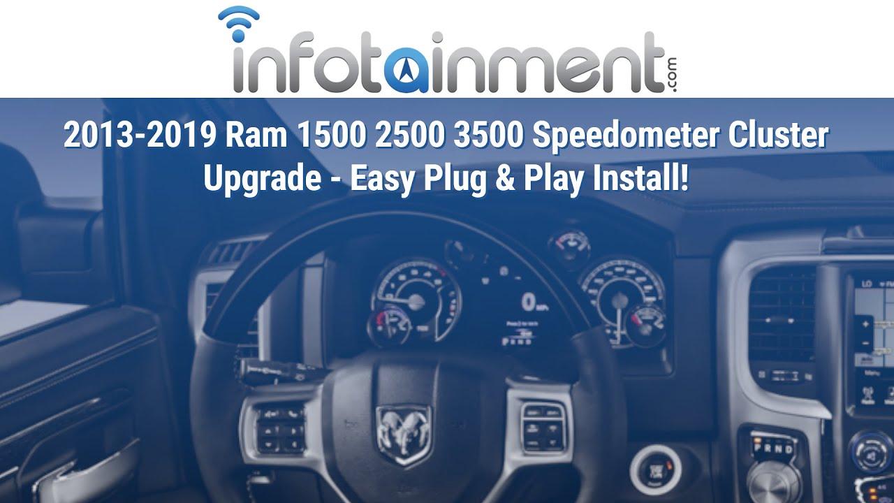 2013-2019 Ram 1500 2500 3500 Speedometer Cluster Upgrade ...