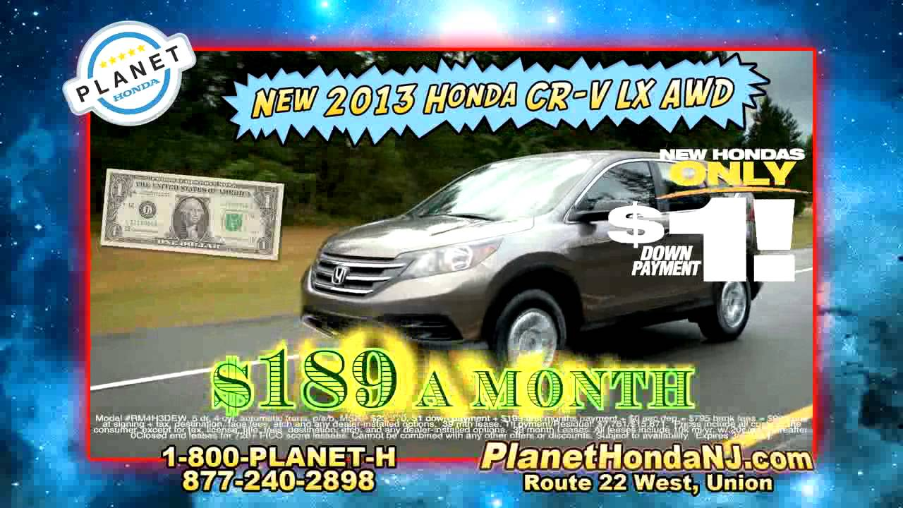 Lovely Planet Honda $1 Down CR V March
