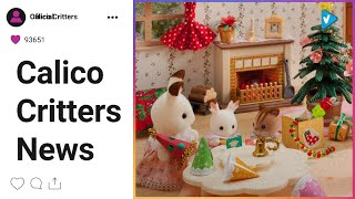 Calico Critters News: Christmas parties are the very best kind!   #CalicoCritters #CalicoFamily