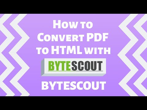 Convert PDF to HTML5 SDK - Bytescout PDF to HTML C#