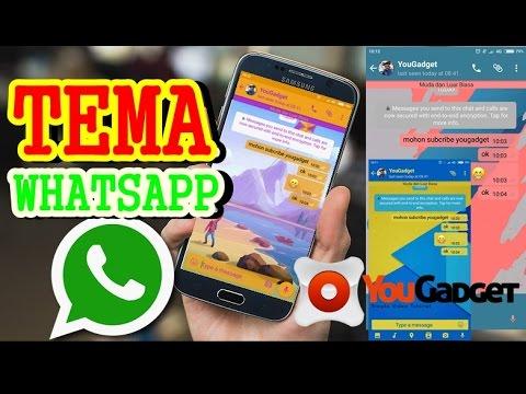 Cara Mengubah Tema Whatsapp dengan Mudah tanpa ROOT #Android