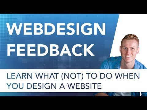 Webdesign Feedback | What (Not) To Do When Designing A Website