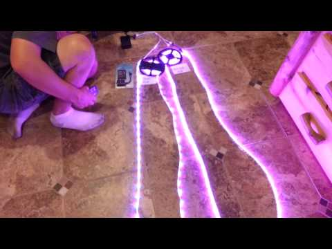 Demo of Sound Activated Music Controlled LED Strip Light - Colorado Hula Hoops