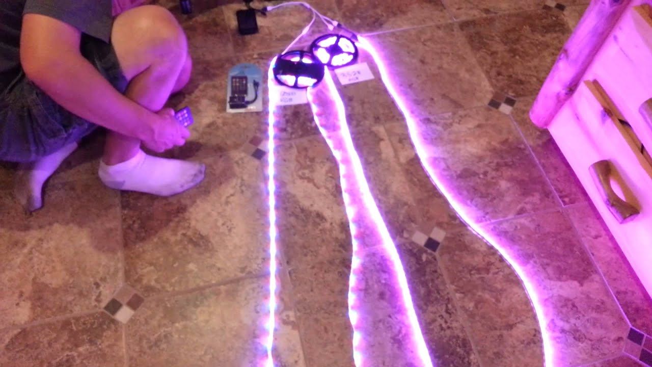 Demo Of Sound Activated Music Controlled Led Strip Light