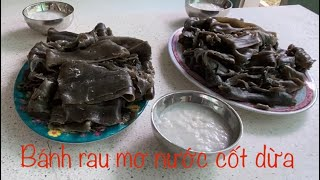Làm Bánh Rau Mơ Ăn Với Nước Cốt Dừa