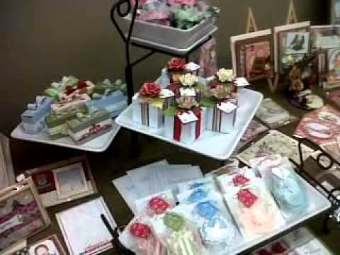CRAFT FAIR showing of my table set up. - YouTube