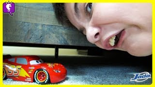 Car PRANK on Parents! Lightning McQueen Surprise with HobbyKidsTV!
