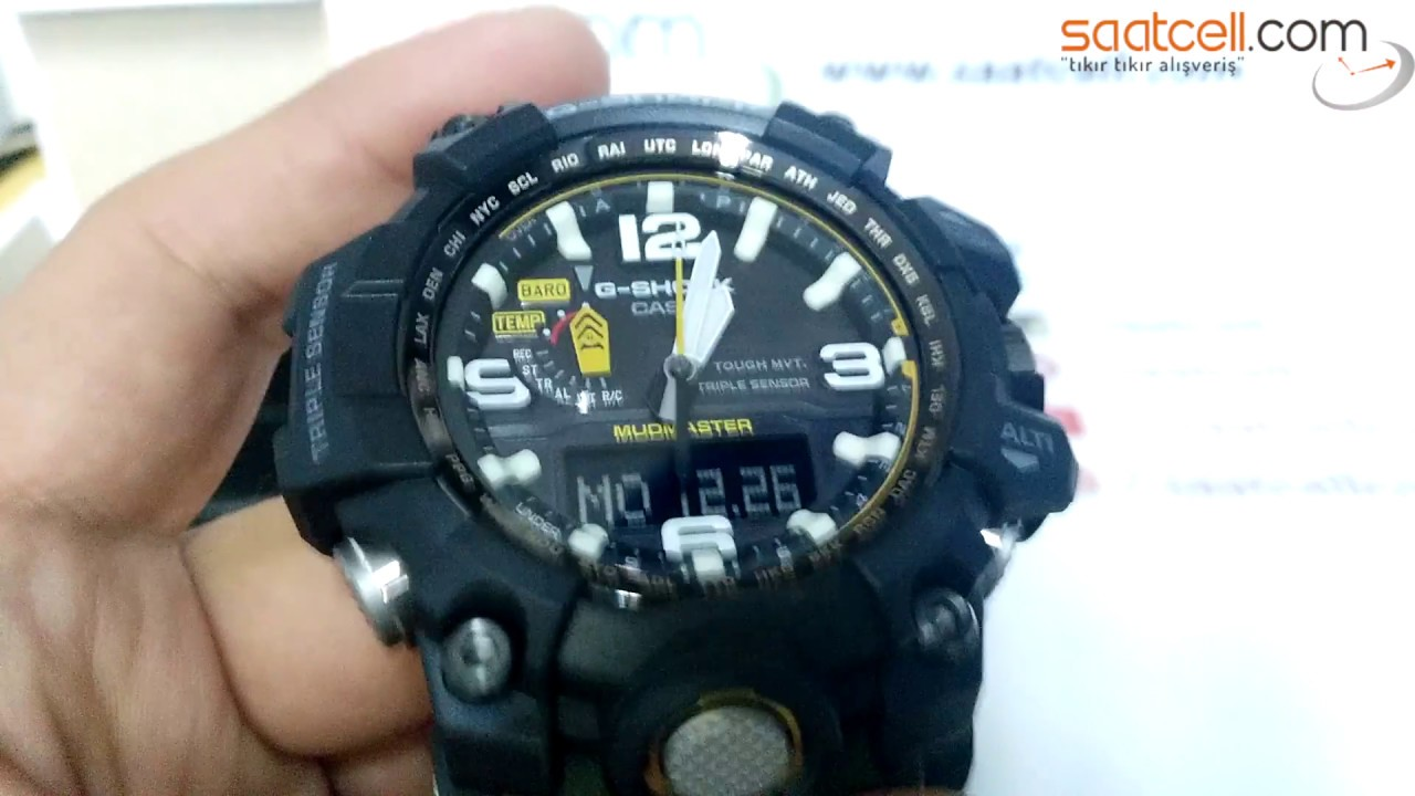 Casio G Shock Mudmaster Gg 1000 Inceleme Ve Ayarlama Kalibrasyon Youtube