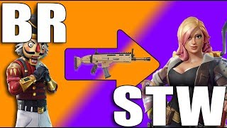 WHEN BR PLAYERS PLAY STW - Fortnite