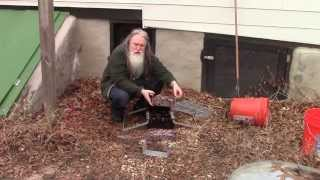 Paper Briquette Maker Leaf experiment