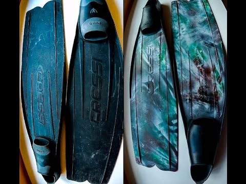 How To Paint Camo Your Diving / Spearfishing Fins
